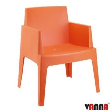 Vanna Beach Arm Chair - Orange